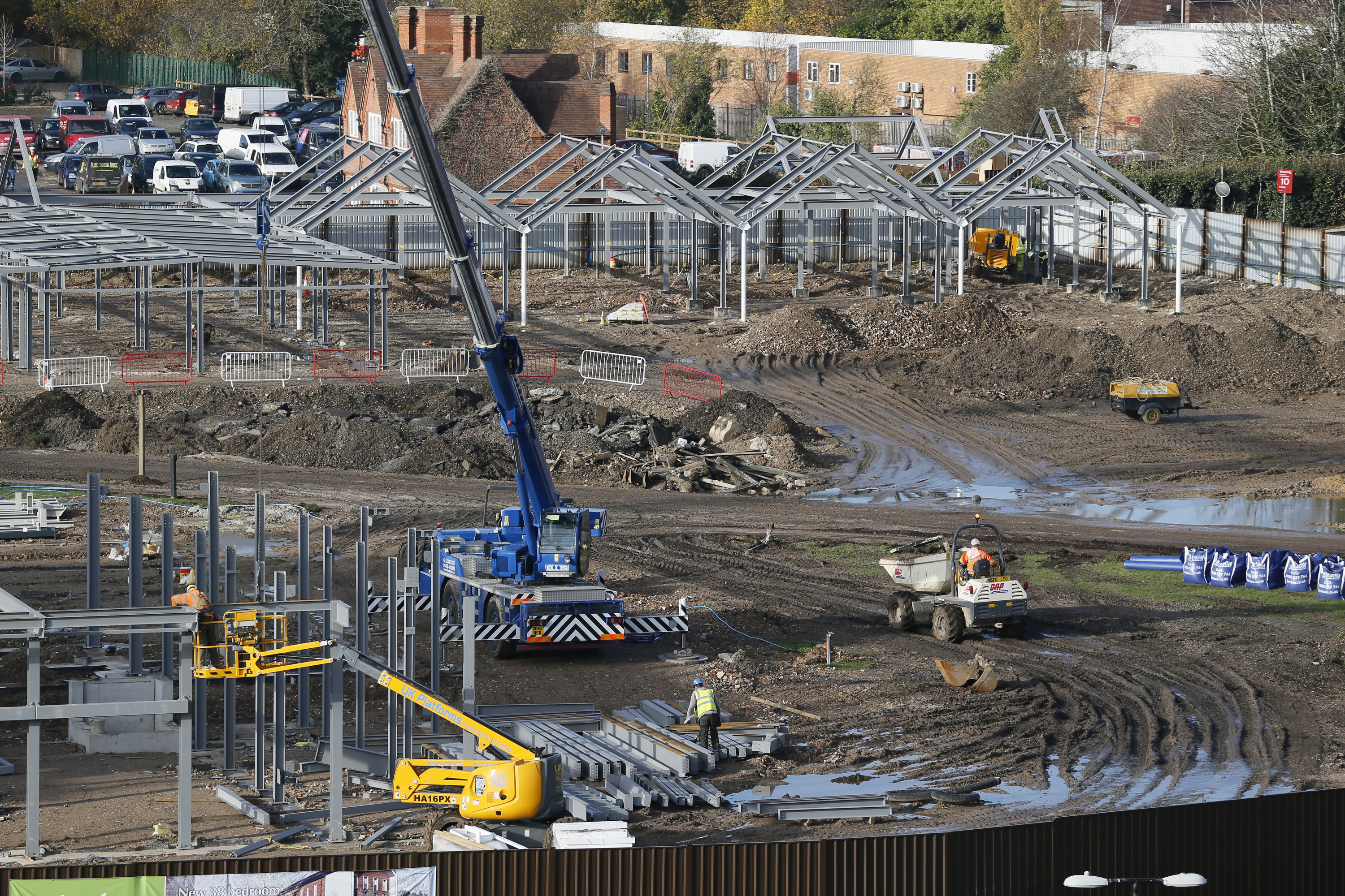 Building Works, Newbury Racecourse, 18-11-14.